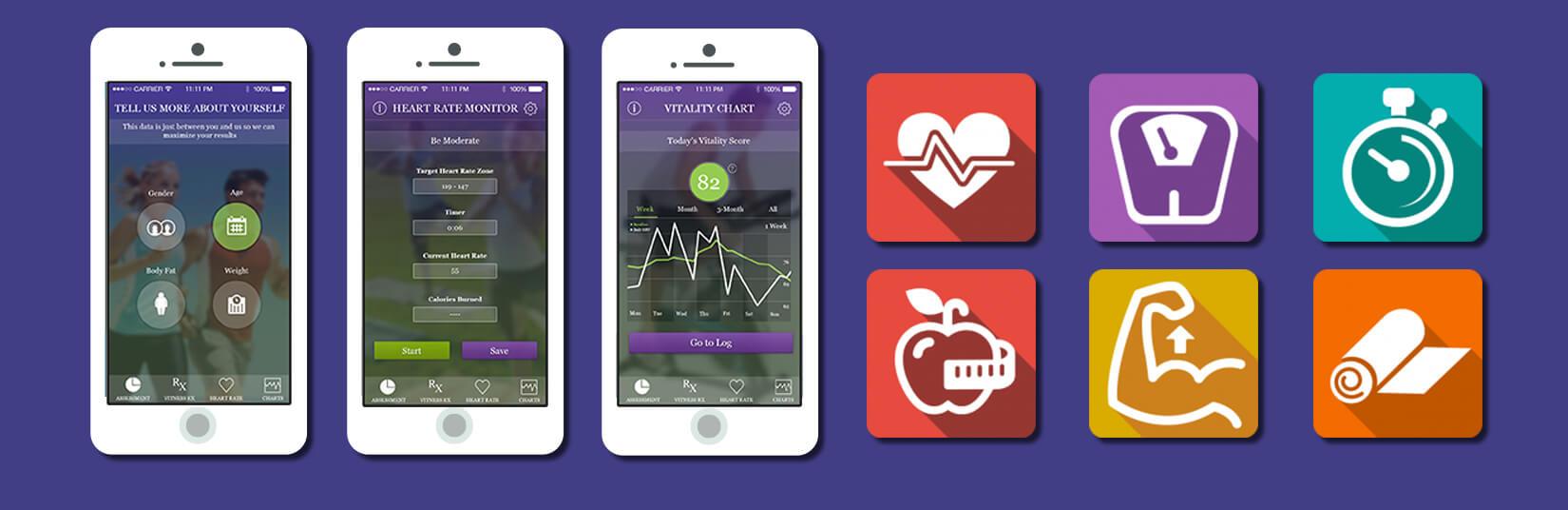 BLE Chest Belt Based Health & Fitness App