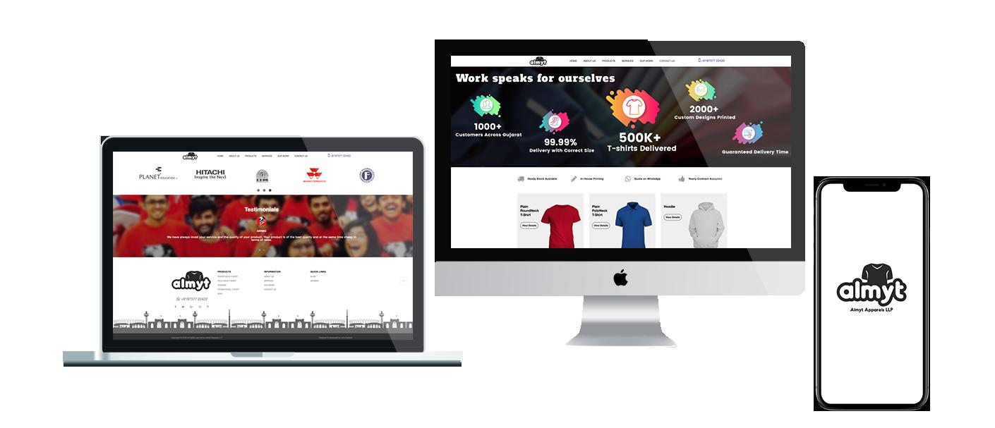 CMS Website development for Apparels Manufacturers