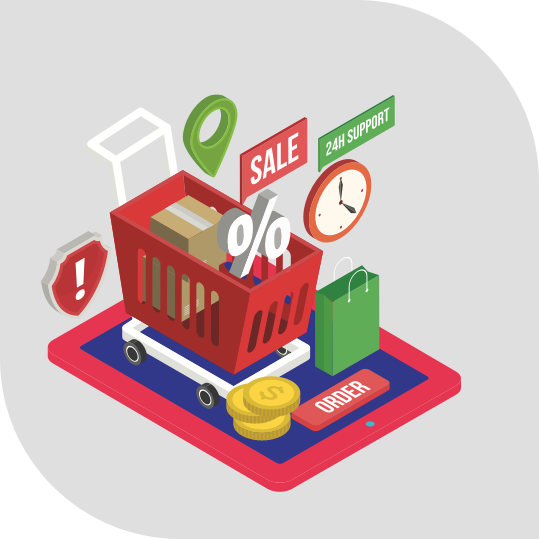 Sell your products online through E-commerce platform