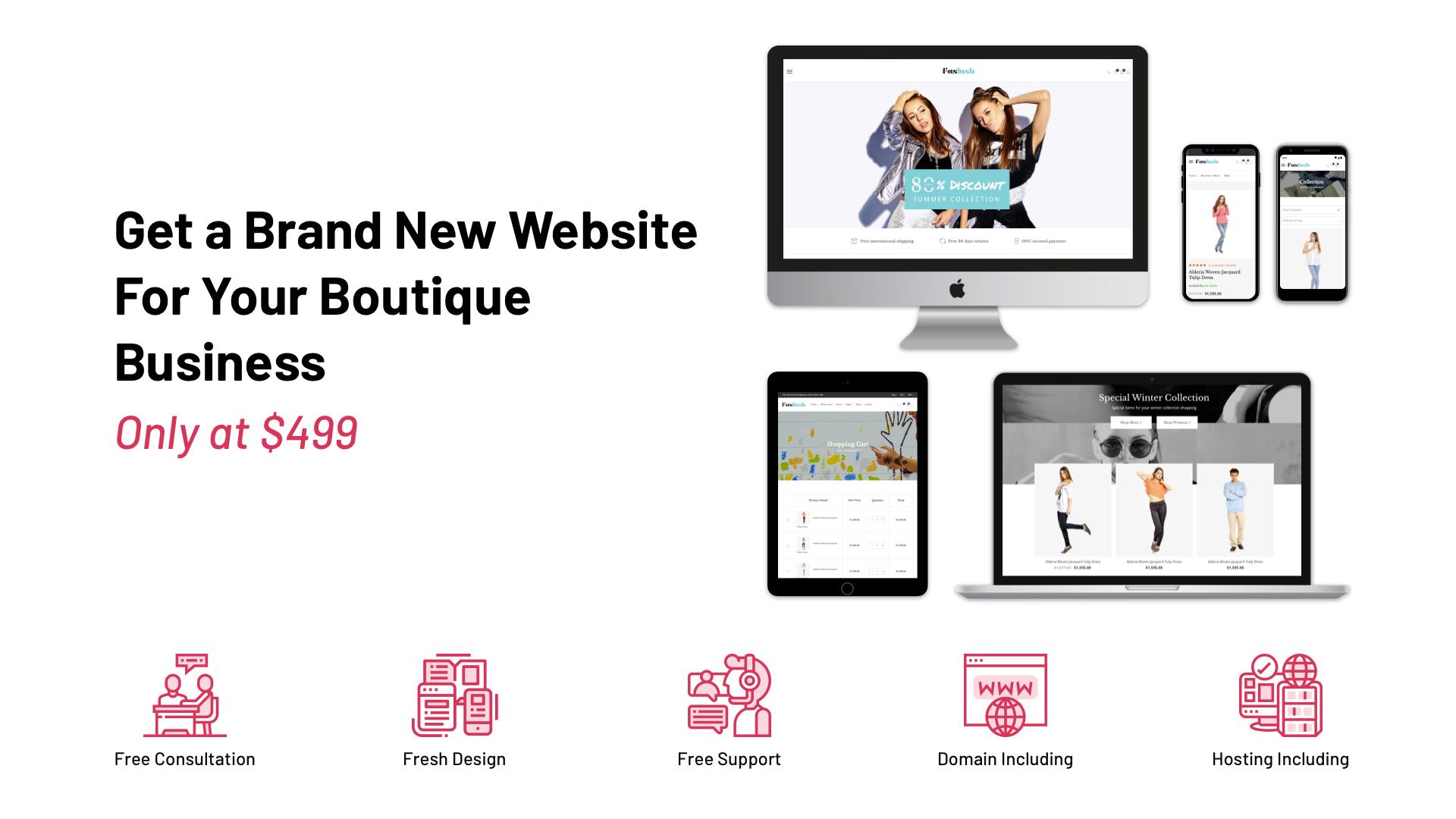 Boutiques Business Website Plan