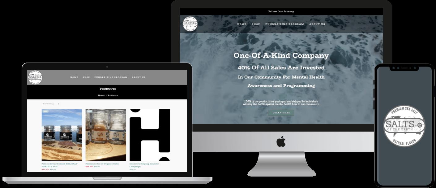 Shopify eCommerce website development for PEI Sea Salt Company