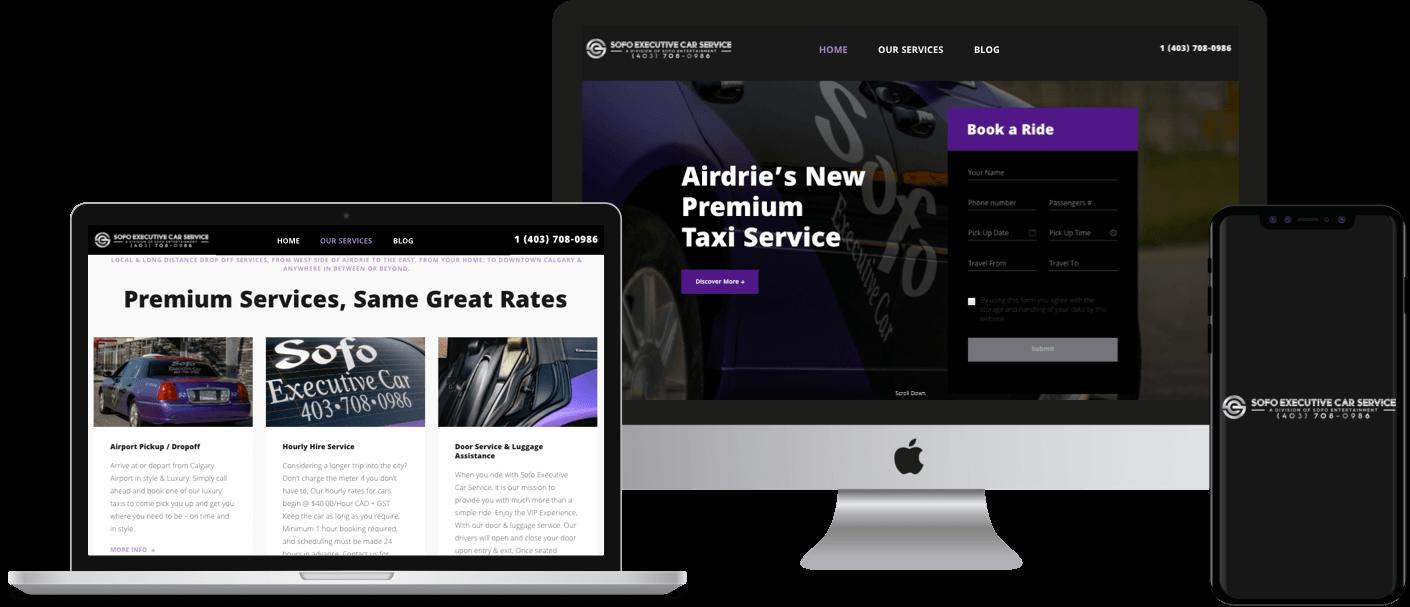 CMS website built on WordPress   Car Service Website