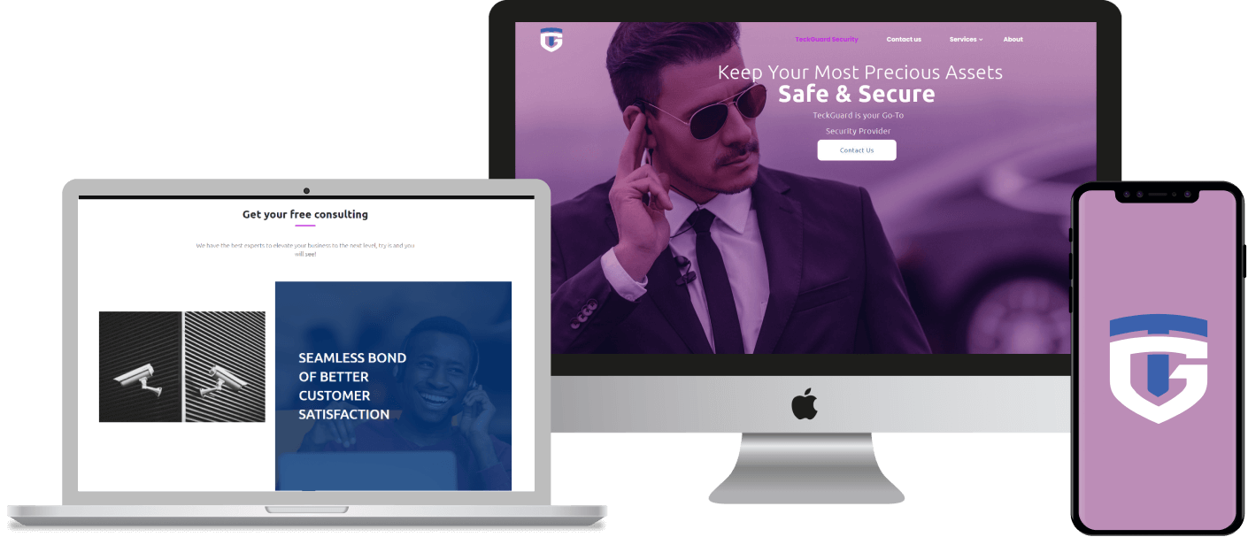 CMS website built on WordPress for a security personnel service business in Calgary, Alberta.